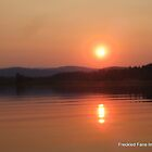 Sunset on Flagstaff Lake by DoulaFaire