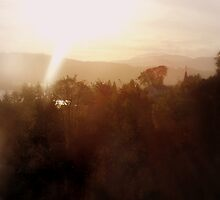 Sunrise over the Columbia River #20, v 2 by Dawna Morton