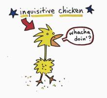 Original Inquisitive Chicken color T shirt Kids Clothes