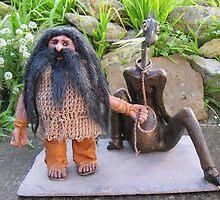 Dwarf & Pet by LeelasArt