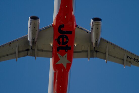 Jetstar A320 Taking Off Overhead by Mark  Lucey