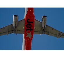 Jetstar A320 Taking Off Overhead Photographic Print