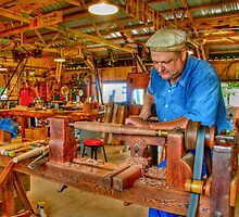 Foot Operated Wood Lathe by ECH52