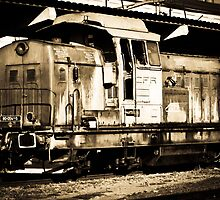 Diesel Engine Locomotive by Teodor Morariu