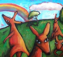 KANGAROO  DREAMS   by ART PRINTS ONLINE         by artist SARA  CATENA