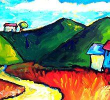 LAZY SUNDAY DRIVE  by ART PRINTS ONLINE         by artist SARA  CATENA