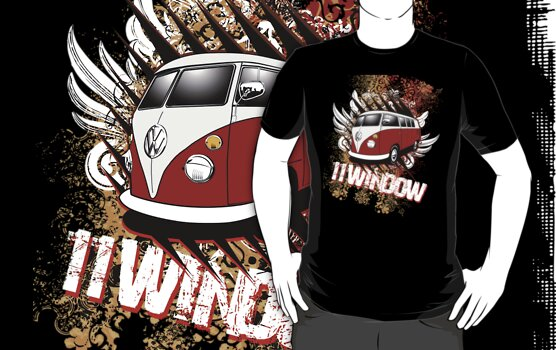 Volkswagen Tee Shirt - 11 Window Split by KombiNation