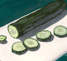 slices of cucumber by bernzweig