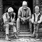 Street conversation. Bhaktapur, Nepal by John Callaway