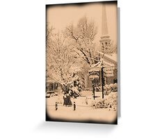 Winter Woodstock, New York Greeting Card