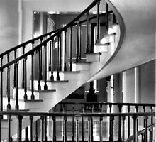 Old Capitol Building Staircase, Iowa City, Iowa by Crystal Clyburn