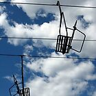 Ski Lift and Sky by RocklawnArts