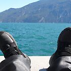 Motorcycle break at Lake Garda by were