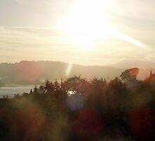 Sunrise over the Columbia River #21 by Dawna Morton