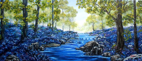 """Blue Woods"" - Oil Painting by Avril Brand"