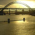Sunset on the tyne bridge by JenaHall