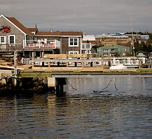 Fishing Village Nova Scotia Canada by Roxane Bay