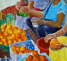 Ladies selling fruit by clairecollins