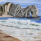 Durdle Door by Annie Lovelass