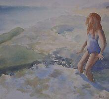 Sara at Newport surf by Ellen Keagy