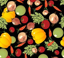 Seamless vegetables by Richard Laschon