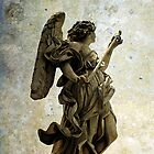 Angel statue on Ponte Sant&#x27;Angelo, Rome  by buttonpresser