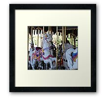 One of the beautiful Disneyland carrousel horses..... Framed Print