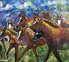 """THE FOUR HORSEMEN"" by Derrick McCall"