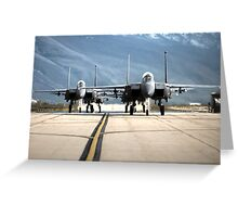 Strike Eagles Greeting Card