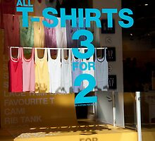 Tee Shirts, 3 for 2  by phil decocco