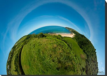 Kinnagoe Bay (as half a planet :-) by George Row