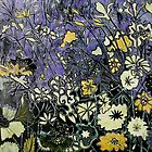"Woodcut Flower Print - Yellow by Belinda ""BillyLee"" NYE (Printmaker)"