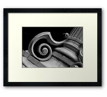 pillars of a community B&W Framed Print