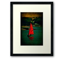 Red Return Framed Print