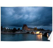 Scene From The Seine Paris France Poster