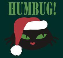 Humbug Christmas Cat retro by patjila