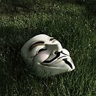 Mask in Grass by dannyphoto