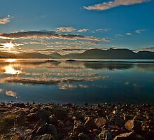 Sun rising over Lochaber by Fraser Ross