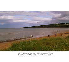The East Sands Of St. Andrews Beach. by Aj Finan