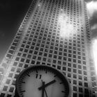 Canada Square Clock, London, England by Chris Millar