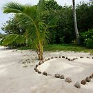Love heart on the beach by Adam Jones