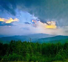 Sunset at Clingmans Dome by Robert H Carney