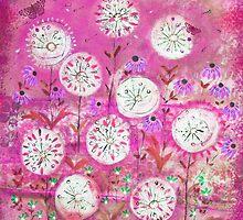 Hazy meadow.  magenta by sue mochrie