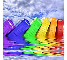 Out Of Order -  A Rainbow - Kingston - Surrey  Photographic Print