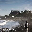 Black Sand Beach  by Angie Muccillo