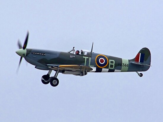 Spitfire Mk IX - Shoreham Airshow 2010 by Colin J Williams Photography