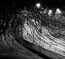 "Melbourne - ""Freeway - stream of car lights"" by Belinda J Bennett"
