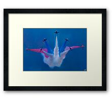 The Red Arrows Perform at Airbourne 2010 Framed Print