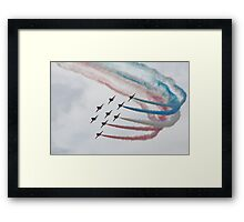 Red Arrows in Formation Framed Print
