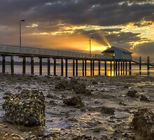 Victoria Point Jetty by Lawrie McConnell